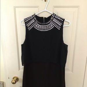 Black Frank Lyman dress with sliver accent